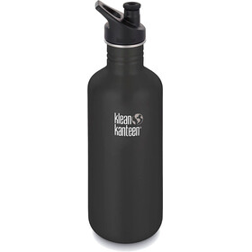 Klean Kanteen Classic Bottle 1182 ml w/ Sport Cap 3.0 Shale Black
